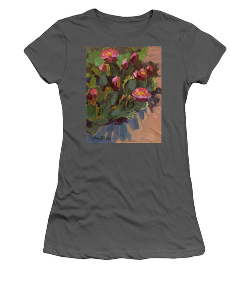 Cactus In Bloom 2 Women's T-Shirt (Athletic Fit)