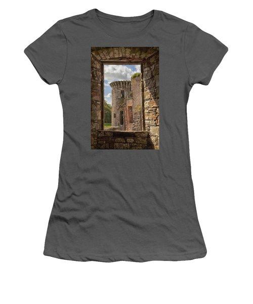 Caerlaverock Castle Women's T-Shirt (Athletic Fit)