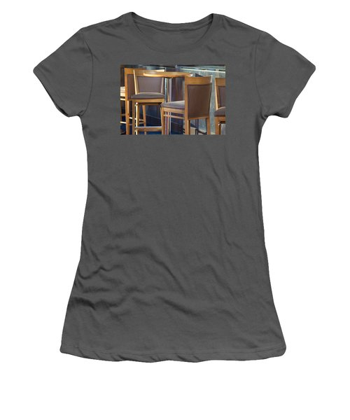 Women's T-Shirt (Junior Cut) featuring the photograph Cafe by Patricia Babbitt