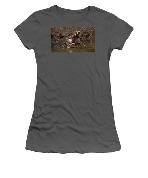 Caiman Vs Catfish 1 Women's T-Shirt (Athletic Fit)