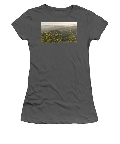 Women's T-Shirt (Athletic Fit) featuring the photograph California Wildflowers by Steven Sparks