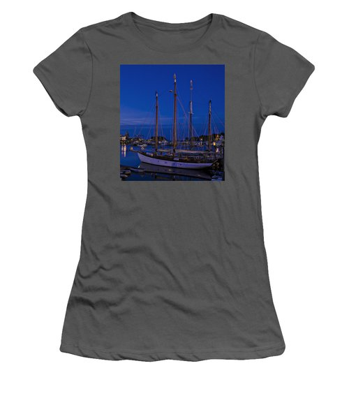 Camden Harbor Maine At 4am Women's T-Shirt (Athletic Fit)