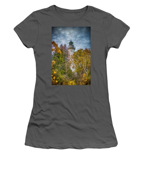 Cana Island Lighthouse II By Paul Freidlund Women's T-Shirt (Athletic Fit)