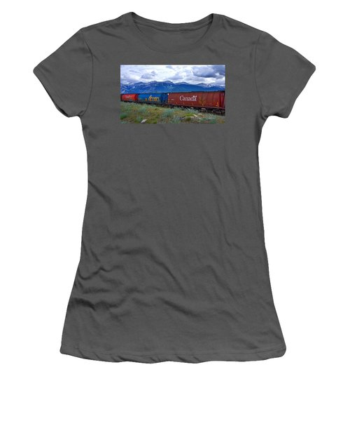 Canadian Freight Train In Jasper #2 Women's T-Shirt (Athletic Fit)