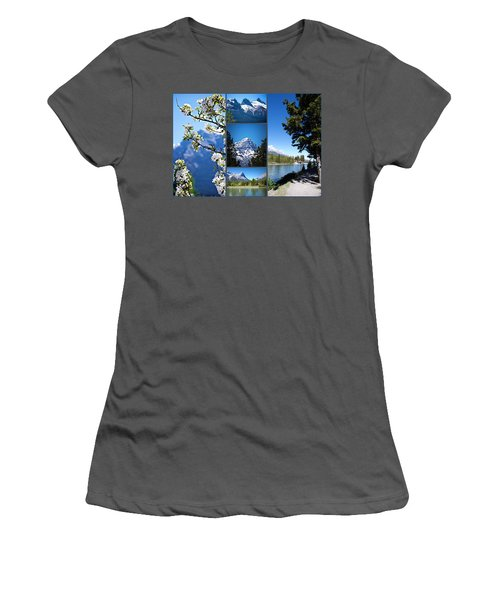 Canmore Alberta Women's T-Shirt (Athletic Fit)