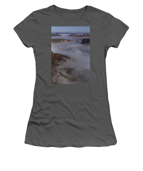 Canyon Rims Float In Fog Women's T-Shirt (Athletic Fit)
