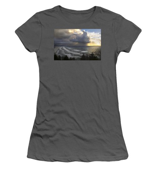 Sunset At Cape Lookout Oregon Coast Women's T-Shirt (Athletic Fit)