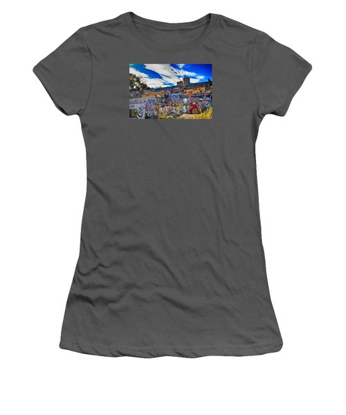 Austin Castle And Graffiti Hill Women's T-Shirt (Athletic Fit)