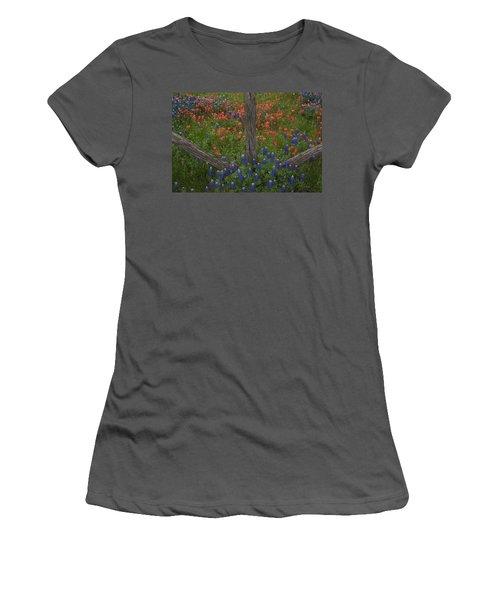 Cedar Fence In Llano Texas Women's T-Shirt (Athletic Fit)