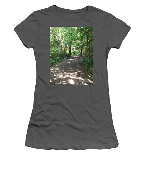Cedar Shadow Steps Women's T-Shirt (Athletic Fit)