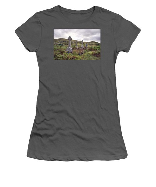 Women's T-Shirt (Junior Cut) featuring the photograph Celtic Cemetary by Hugh Smith