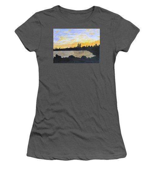 Central Park In Newyork Women's T-Shirt (Athletic Fit)