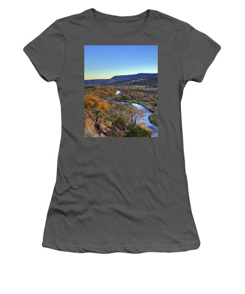 Chama River At Sunset Women's T-Shirt (Athletic Fit)