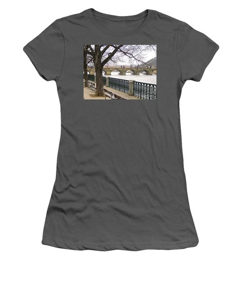 Charles Bridge  Women's T-Shirt (Junior Cut) by Suzanne Oesterling