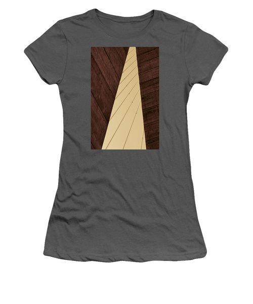 Charleston Bridge Abstract Women's T-Shirt (Athletic Fit)