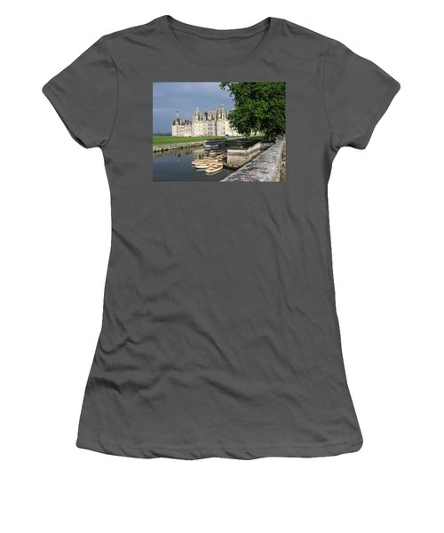 Chateau Chambord Boating Women's T-Shirt (Junior Cut) by HEVi FineArt