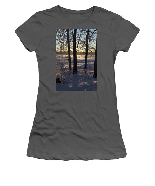 Chena River Trees Women's T-Shirt (Athletic Fit)