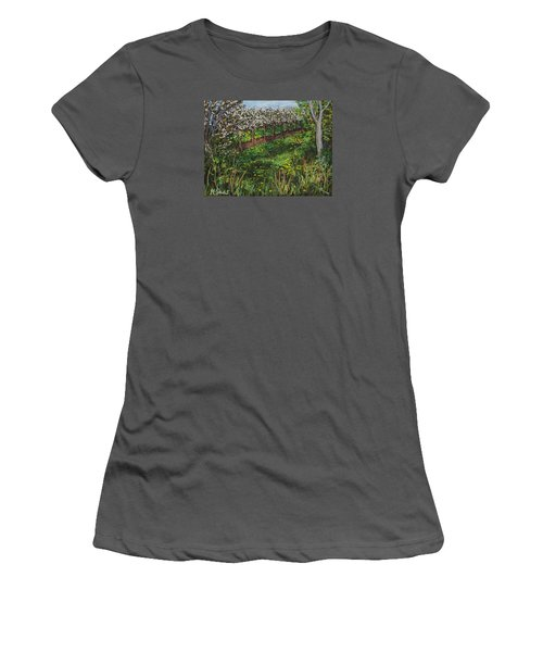 Cherry Orchard Evening Women's T-Shirt (Junior Cut) by Madonna Siles
