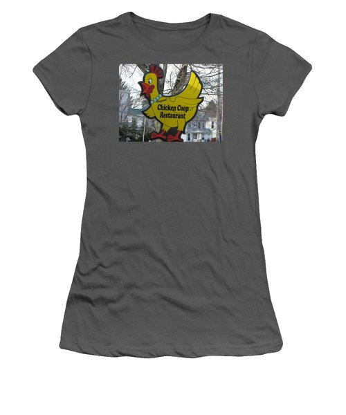 Chicken Coop Women's T-Shirt (Athletic Fit)
