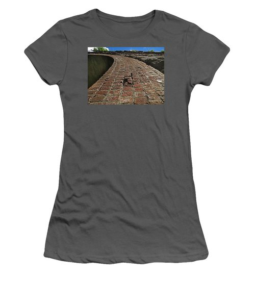 Chipmunks View Of A Stone Bridge Women's T-Shirt (Athletic Fit)