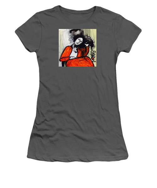 Women's T-Shirt (Junior Cut) featuring the drawing Chloe by Helen Syron