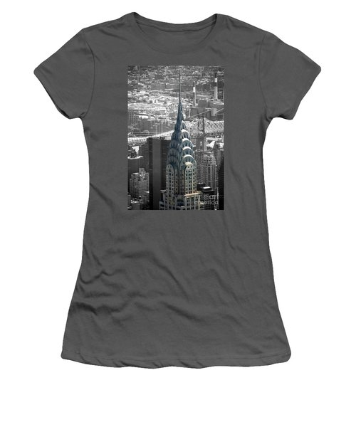 Chrysler Building Women's T-Shirt (Athletic Fit)