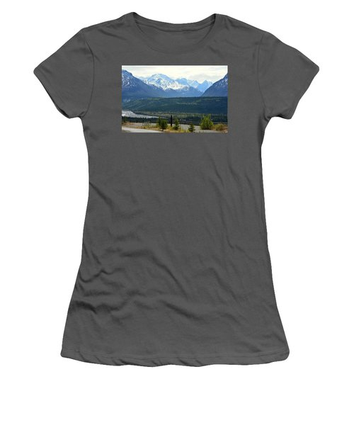Chugach Mountains Women's T-Shirt (Athletic Fit)