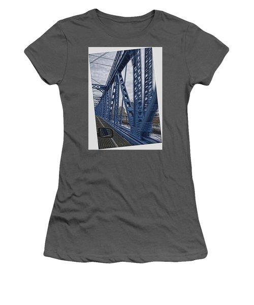 Cincinnati Bridge Women's T-Shirt (Athletic Fit)