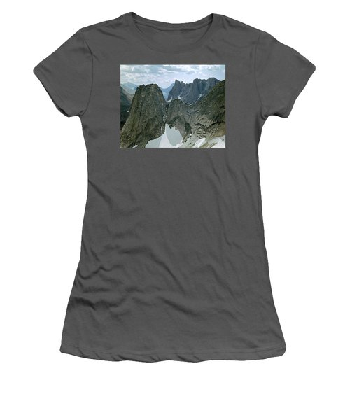 209615-cirque Of Towers, Wind Rivers, Wy Women's T-Shirt (Athletic Fit)