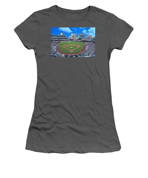 Citi Field Women's T-Shirt (Junior Cut) by Allen Beatty