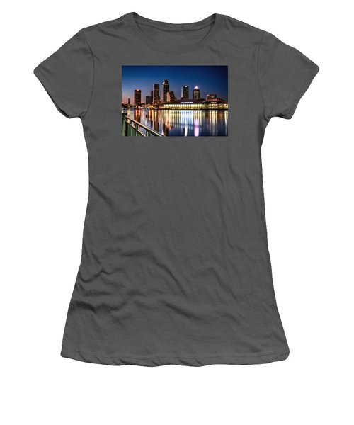 City Of Tampa Skyline  Women's T-Shirt (Athletic Fit)
