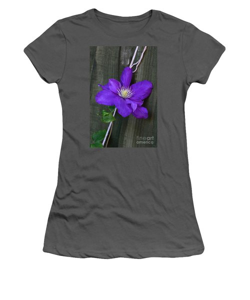 Clematis On A String Women's T-Shirt (Athletic Fit)