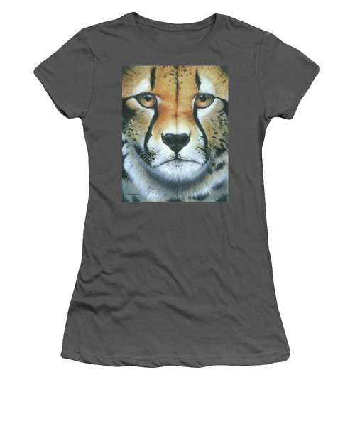 Women's T-Shirt (Junior Cut) featuring the painting Close To The Soul by Mike Brown