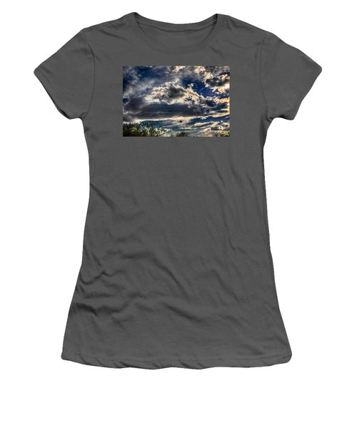 Women's T-Shirt (Junior Cut) featuring the photograph Cloud Drama by Mark Myhaver