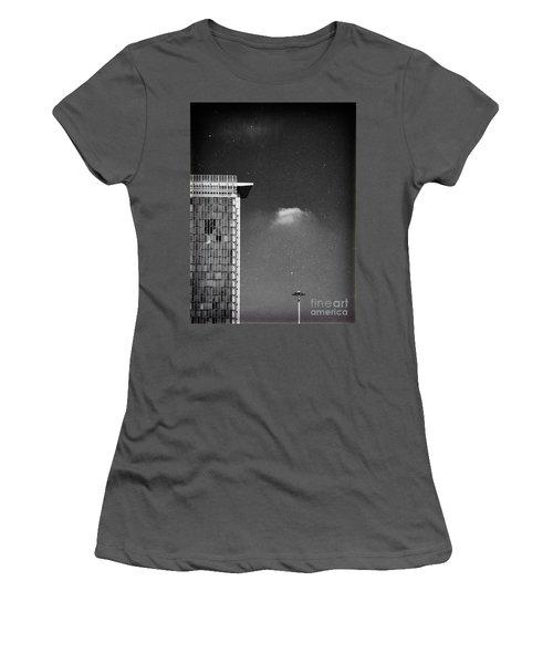 Women's T-Shirt (Junior Cut) featuring the photograph Cloud Lamp Building by Silvia Ganora