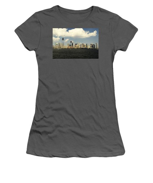 Clouds Over New York Skyline Women's T-Shirt (Athletic Fit)