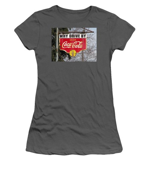 Coca-cola Sign Women's T-Shirt (Athletic Fit)