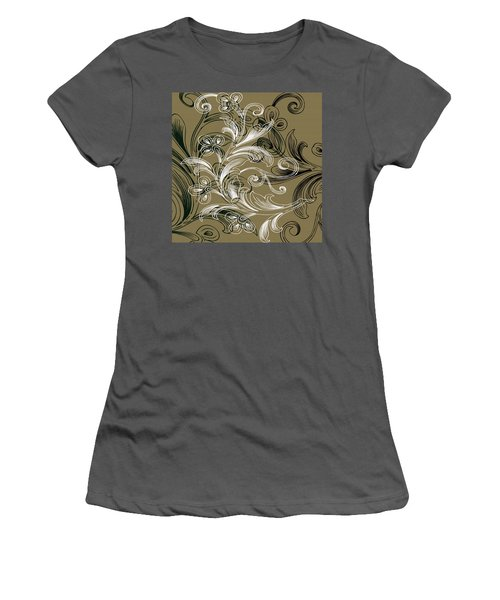 Coffee Flowers 4 Olive Women's T-Shirt (Athletic Fit)