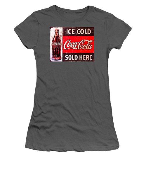 Coke Women's T-Shirt (Junior Cut) by Reid Callaway