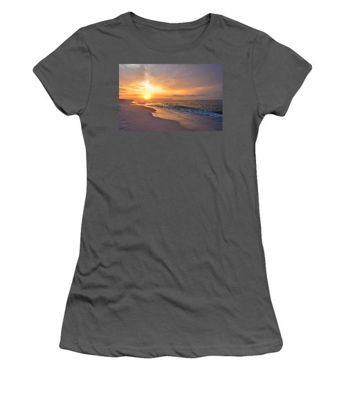 Color Palette Of God On The Beach Women's T-Shirt (Junior Cut) by Jeff at JSJ Photography