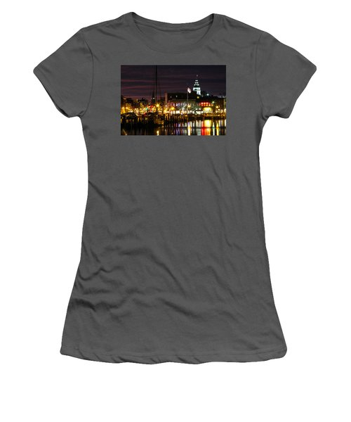 Colorful Annapolis Evening Women's T-Shirt (Athletic Fit)
