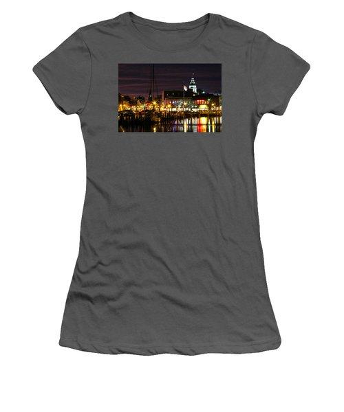 Colorful Annapolis Evening Women's T-Shirt (Junior Cut)