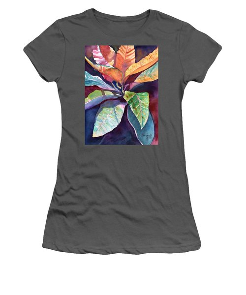Colorful Tropical Leaves 3 Women's T-Shirt (Athletic Fit)