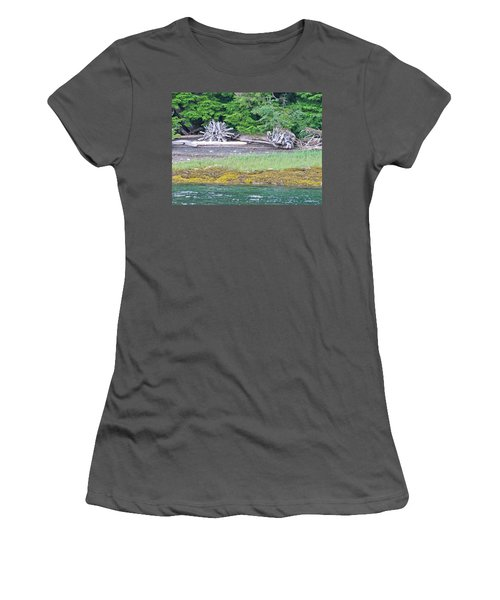 Colors Of Alaska - Layers Of Greens Women's T-Shirt (Athletic Fit)