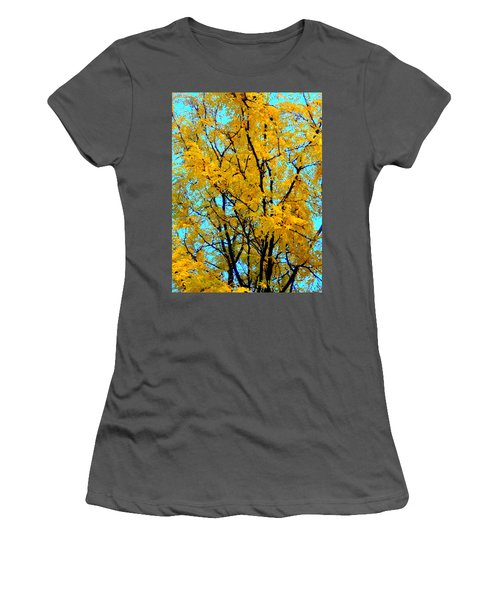 Colors Of Fall - Smatter Women's T-Shirt (Athletic Fit)