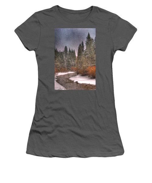 Colours Of Winter Women's T-Shirt (Athletic Fit)