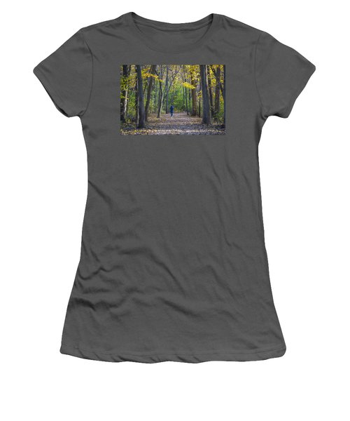 Women's T-Shirt (Junior Cut) featuring the photograph Come For A Walk by Sebastian Musial