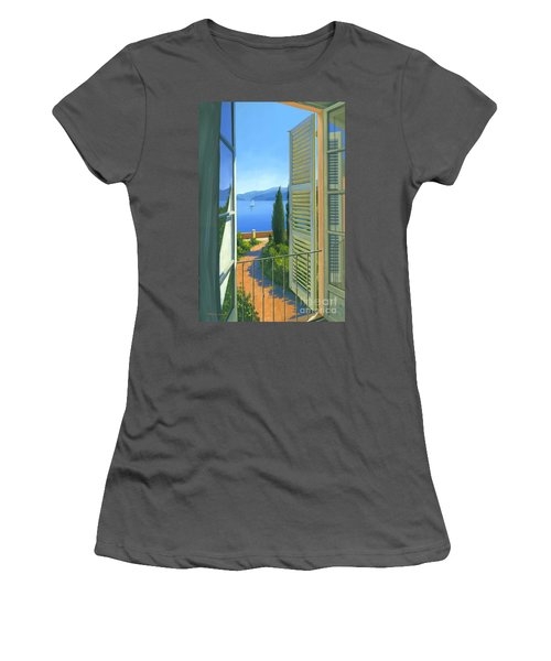 Women's T-Shirt (Junior Cut) featuring the painting Como View by Michael Swanson