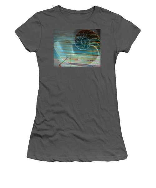 Women's T-Shirt (Junior Cut) featuring the photograph Conch by Irma BACKELANT GALLERIES