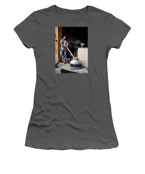 Cooking Breakfast Early Morning Lahore Pakistan Women's T-Shirt (Junior Cut) by Imran Ahmed